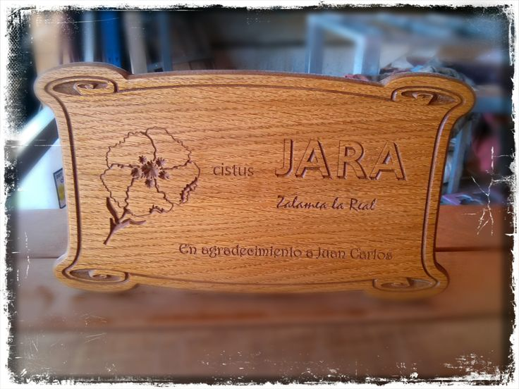 Placa conmemorativa de la fundaci n citus jara realizada - Placa de madera ...