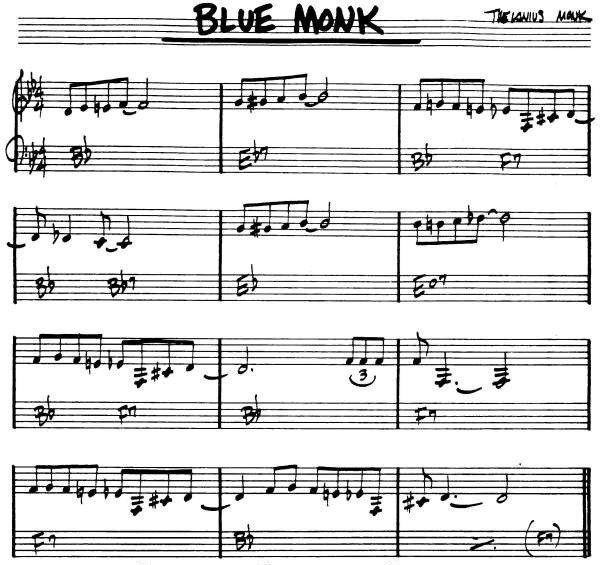 Blue Monk Josh Hindmarsh Jazz Standard Jazz Sheet Music Jazz Songs
