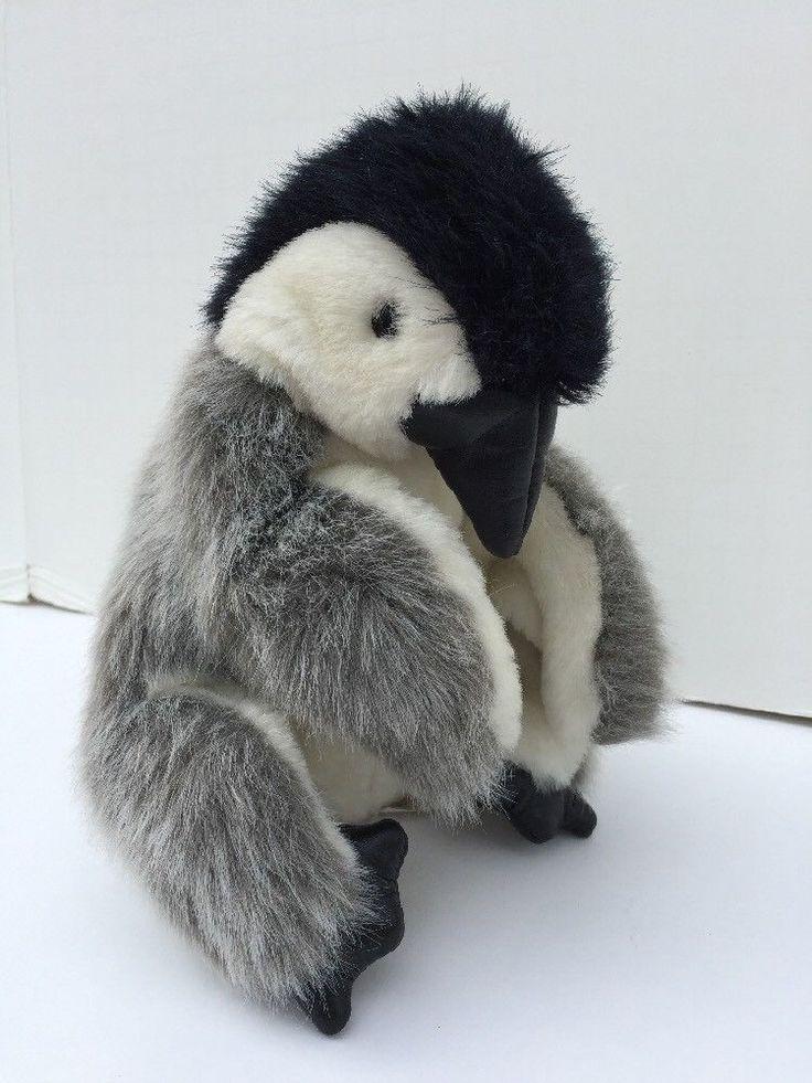 "Folkmanis Plush Hand Puppet Baby Emperor Penguin Realistic Stuffed Animal 9 1/2"""