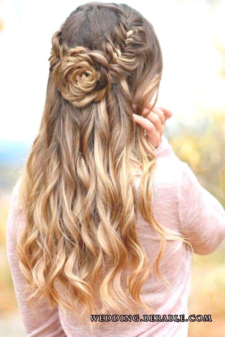 long hair half-open flower braiding # hairstyles hairstyles for long hair – – #Flower #Color #Feastly #Weaving #Hairstyles