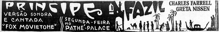 1928 - FAZIL - Howard Hawks - (CORREIO DA MANHA, Thursday, August 28, 1930, Rio de Janeiro, Brazil)