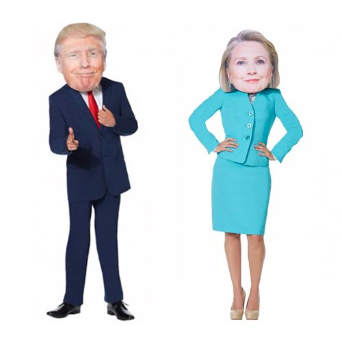 Giant Hillary Clinton & Donald Trump Head Mask