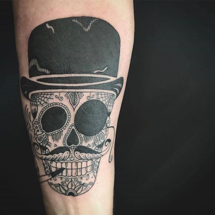 Olio Skull Tattoo By Oksanaweber From Body And Soul Tattoo 20170911 Skull Tattoo Sugar Skull Tattoos Soul Tattoo