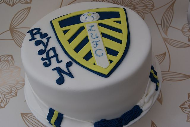 Leeds United Football Shirt Birthday Cake