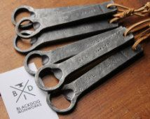 #6years for the Iron Anniversary a personalized hand forged bottle opener
