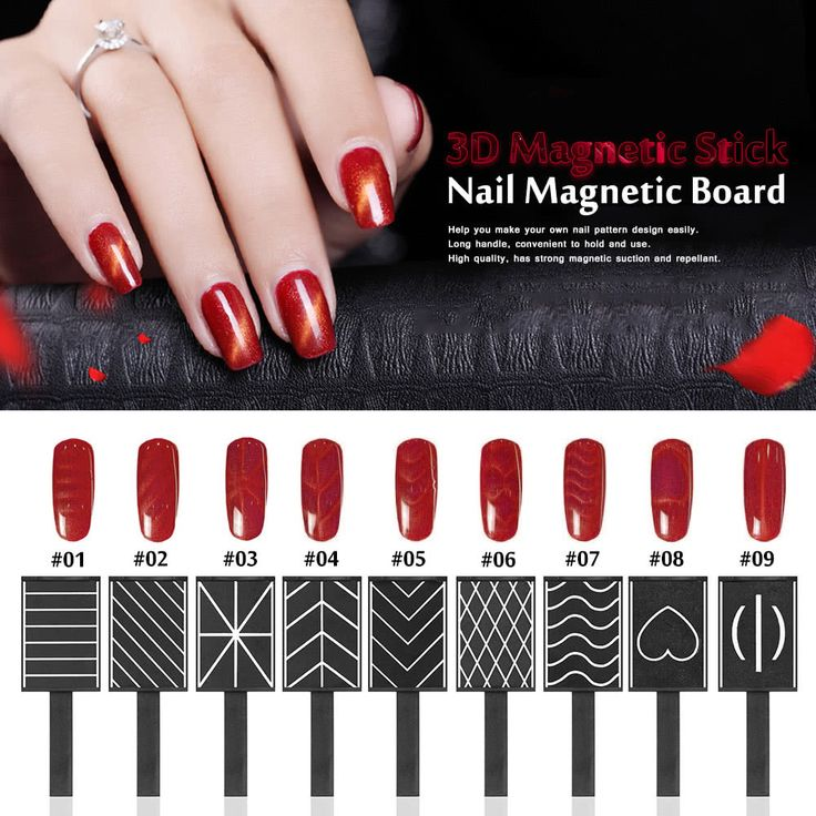 11 Pieces/set 3D Magnet Stick Magnetic Cat Eye Pen Drawing Sales Online black red - Tomtop.com