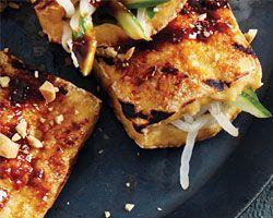 Grilled Crisp Tofu Pockets (Tahu Bakar)