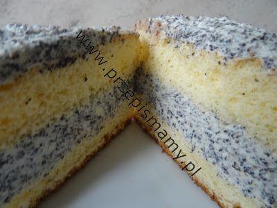 Ciasto z kremem makowym