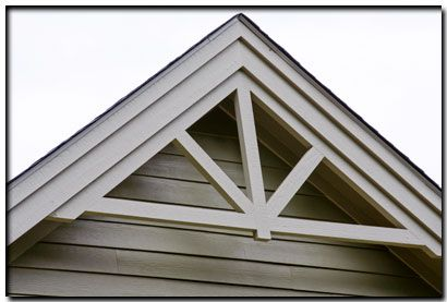 Millwork for gable could do it right over the shingles deena pinterest craftsman house for Exterior decorative trim for homes