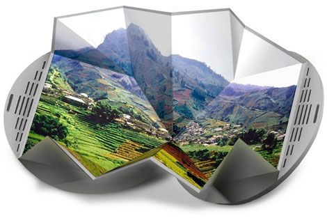"Electronic Paper  Electronic paper, a thin, flexible display technology that reveals digital images in full color, was invented by Israeli company Magink. Inventables imagines that the material could be used to create a portable ""origami DVD player,"" which would unfold to reveal a big screen."