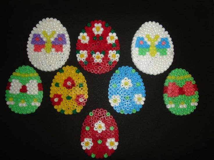 Easter eggs hama perler by Isabelle8119
