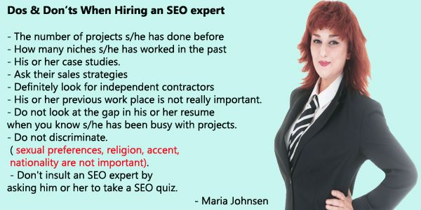 Do's and Don'ts When Hiring An SEO Expert | Multilingual SEO Blog