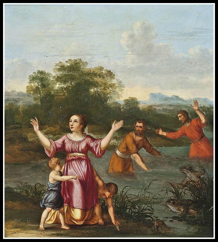 """Latona Turning the Lycian Peasants into Frogs"" by Cornelis Van Poelenburgh."