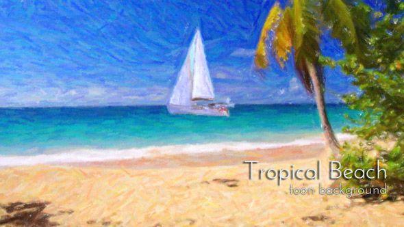 Tropical Sandy Beach Animation by cinema4design