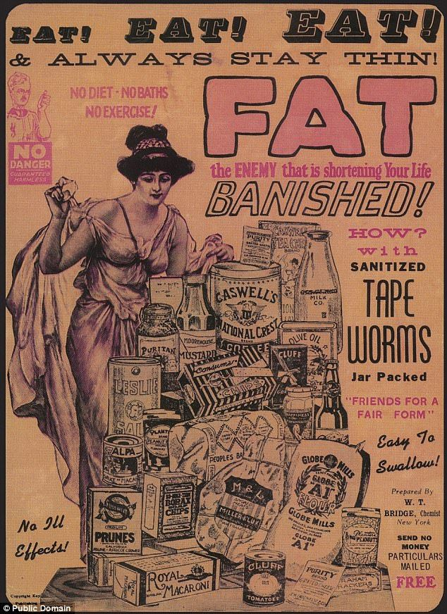 Forget cutting back calories: The tapeworm diet was all the rage in the 1800s