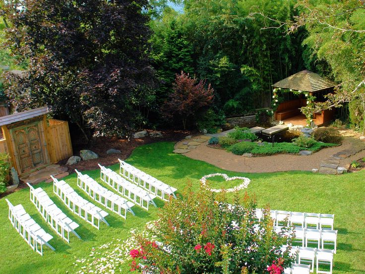 Outdoor garden wedding at wysteria inn near asheville for Wedding venues in asheville nc