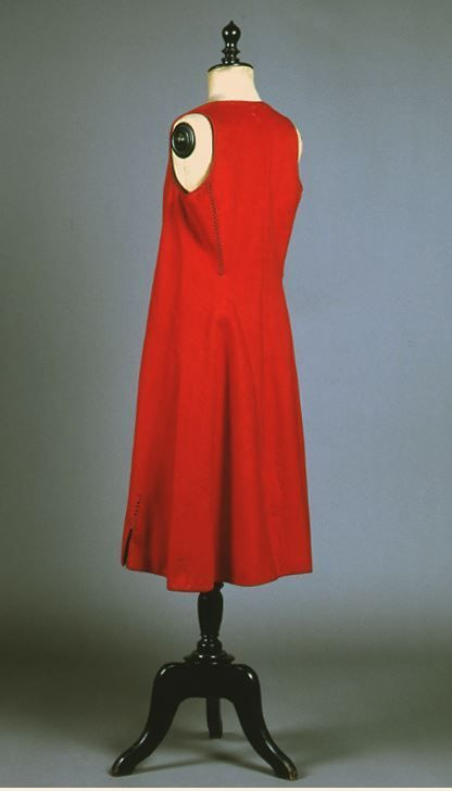 """Dzoumbes"". Sleeveless red felt overcoat. H. 1.03 m. Leonidio, Peloponnese, Greece. Early 20th century. Peloponnesian Folklore Foundation Collection, Nafplion. Donated by Ioanna Papantoniou. 1976.6.1299. ""Dzoumbes"". Sleeveless red felt overcoat...."