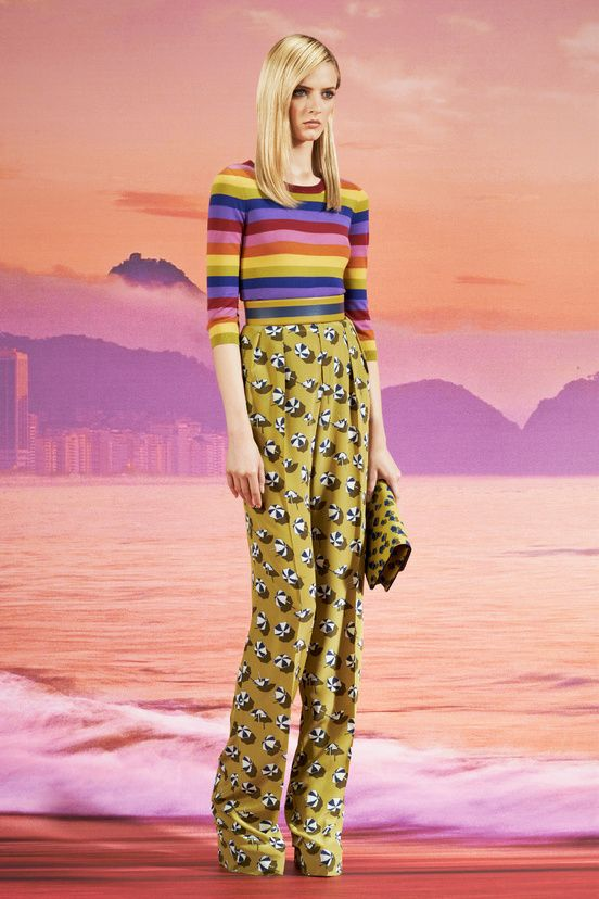 Gucci 2014 resort, vile colours even the model looks like she hates it