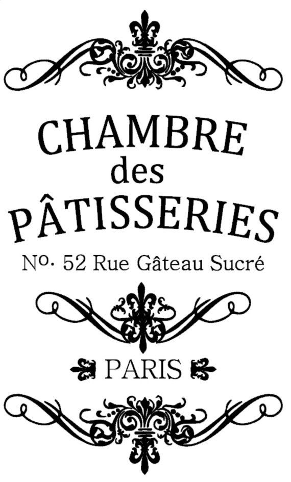 """""""Chambre des Patisseries"""" French country wood sign"""