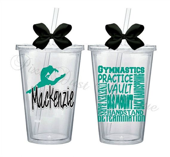 Gymnastics, Gymnastics Gift, Gymnastics Party Favor, Gymnastics Water Bottle, Gymnastics Tumbler, Gymnastics Cup, Personalized, Subway Art
