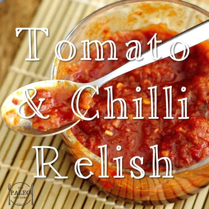 What better way to finish off a paleo burger, than with a generous serving of home-made relish? This relish is tomato and chilli – but unlike most relish recipes, I've used medjool date…