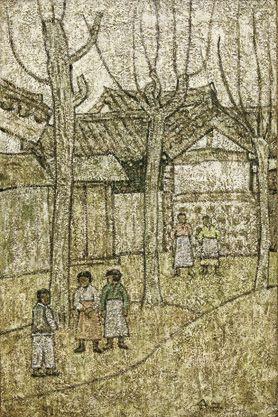 Park Soo-keun, At the Alleyway, 1950s, Oil on Canvas, 80.3 x 53 cm, GALLERY HYUNDAI