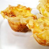 Caramelized Onion and Gruyère Tarts. Sweet caramelized onions ...