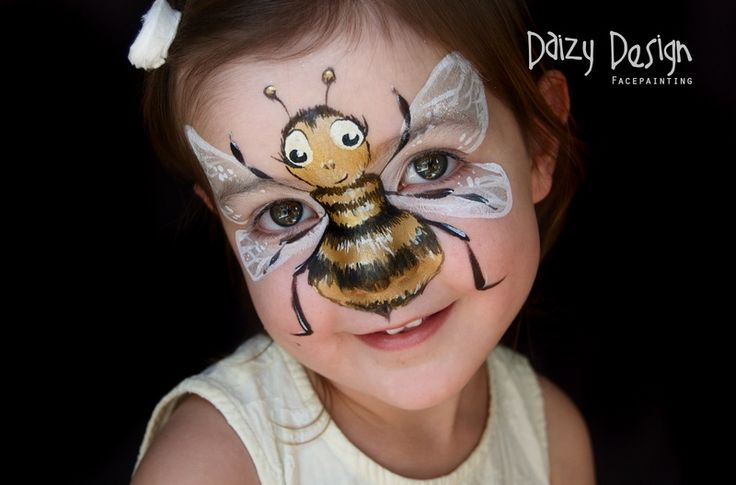 Latest Faces - Daizy Design This bee facepaint photo is beautiful! face painting ideas for kids