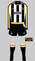 Notts County - Historical Football Kits 91/93