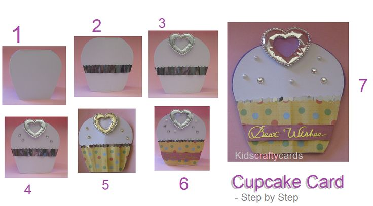 Simple  and easy to make cupcake Card for kids.