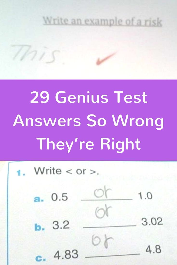 worksheet Test Of Genius Worksheet Answers the 25 best genius test ideas on pinterest funny answers 29 so wrong theyre right