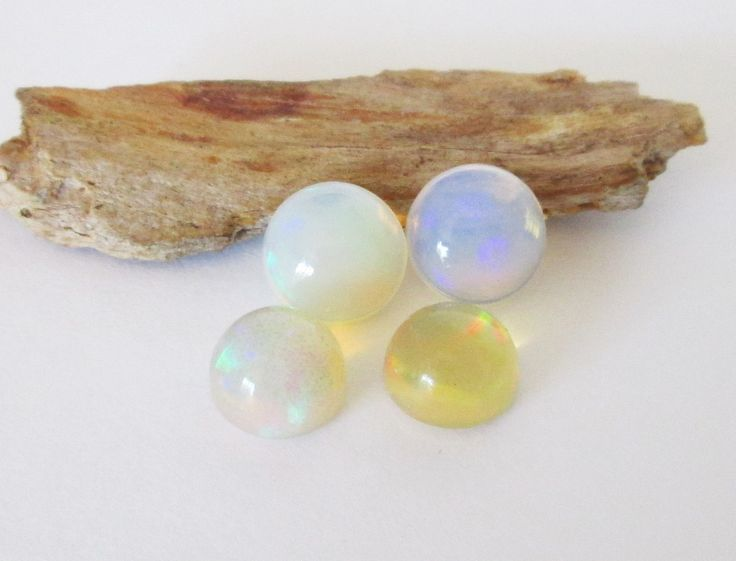 Ethiopian Welo Precious Opal 8 and 9mm Round Cabochon Lot 7.90cttw by BellaGems61 on Etsy $60.00