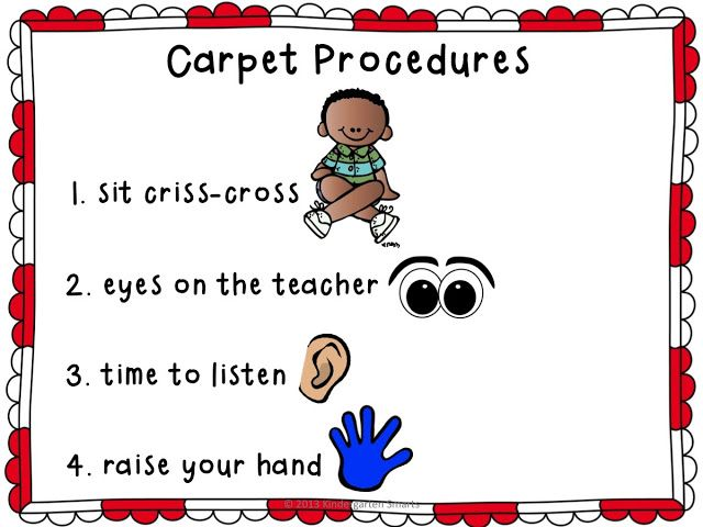 Carpet Procedures Poster and Reminder Cards FREEBIE