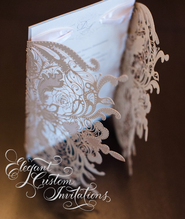 Elegant custom invitations- couture