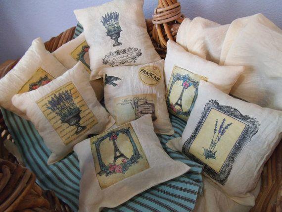 muslin french lavande lavender sachet pillow by