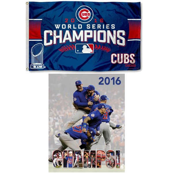Chicago Cubs 2016 World Series Champions Celebration Pack Flag & Book Set  #ChicagoCubs #Cubs #FlyTheW #MLB #ThatsCub