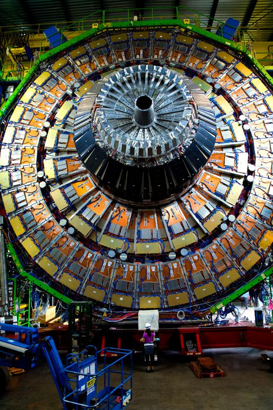 Chasing the Higgs with The Large Hadron Collider: While temperatures inside the tiny beams of colliding particles can reach temperatures 100,000 times hotter than the Sun, the cooling system circulating around the accelerator ring is lowered to around -456 degrees Fahrenheit -- colder than outer space. Photo by Luis Davilla. Getty Images