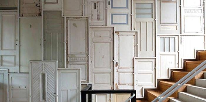 Wandbekleding Van Oude Deuren Deuren Pinterest Van