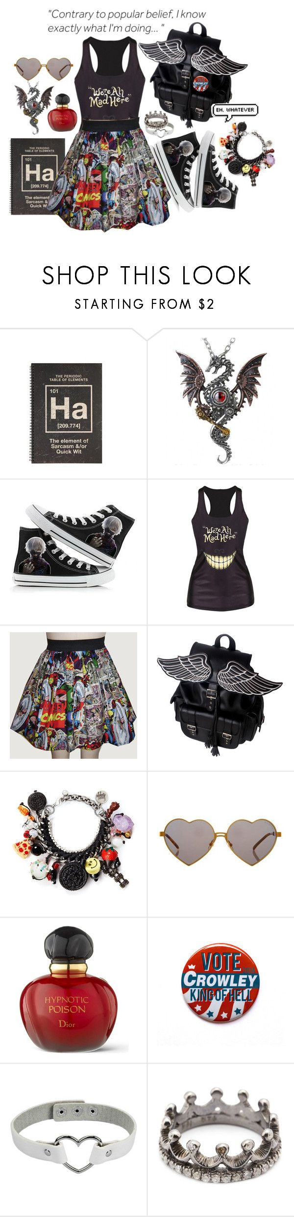 """Define ""Nerd""- Part 2"" by itsjustagame ❤ liked on Polyvore featuring Venessa Arizaga, Wildfox, Christian Dior and Loree Rodkin"