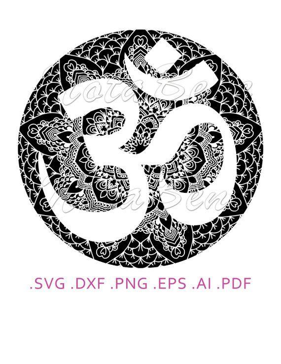 Om Mandala Meditation Yoga Zentangle Om Clipart Svg Digital Etsy In 2020 Mandala Meditation Zentangle How To Draw Hands