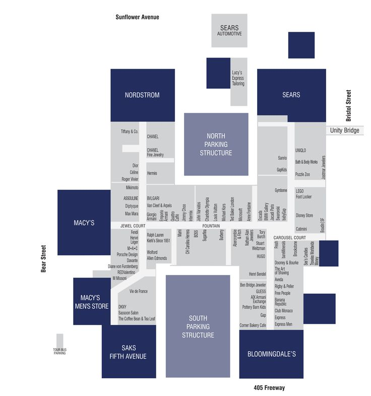 Store Directory - South Coast Plaza
