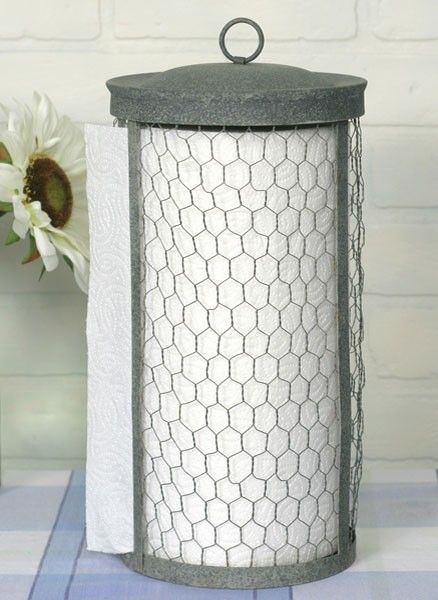 Chicken Wire Farmhouse Paper Towel Holder