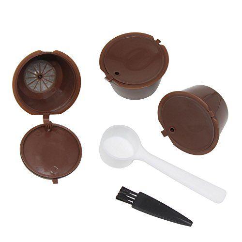 Xcellent Global Pack de 3 capsules filtre à café réutilisables pour Nescafe Dolce Gusto HG170: Fabriquée en PP (Polypropylène) alimentaire,…