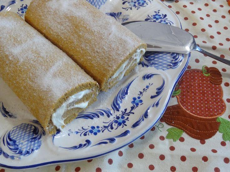 Torta de Abobora - Pumpkin roll Recipe from Tia Maria's Blog