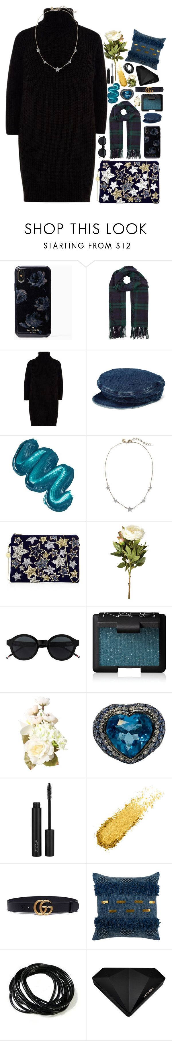 """""""baby that's what you are."""" by thaniahjcat ❤ liked on Polyvore featuring Burberry, River Island, Mermaid Salon, From St Xavier, OKA, NARS Cosmetics, ZOEVA, Gucci and Sephora Collection"""