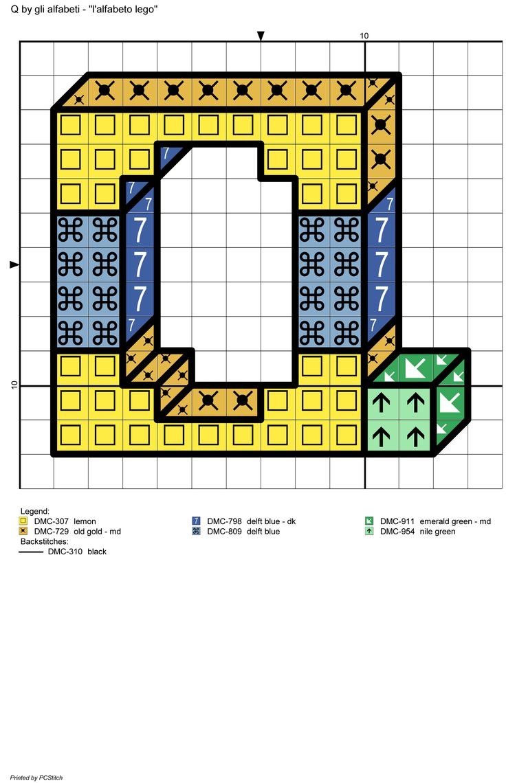 alfabeto lego: Q