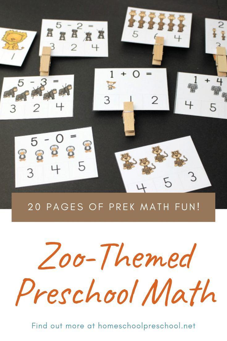 Free Printable Zoo Math Worksheets For Preschoolers Homeschool Preschool Math Preschool Math Fun Kindergarten Worksheets [ 1102 x 735 Pixel ]