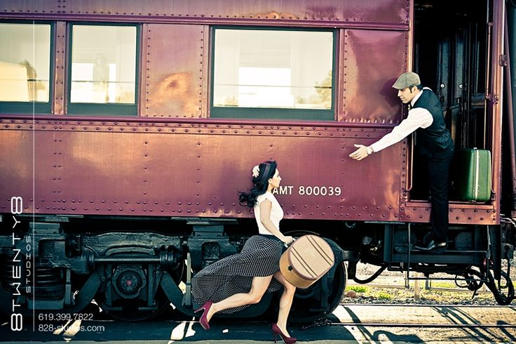 vintage engagement shoot... adorable