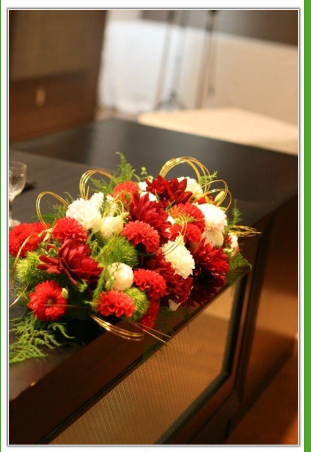 ダリア(メキシコ国花)とピンポンマム