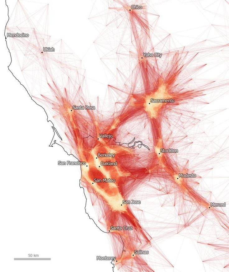 Commutes in the SF Bay Area map